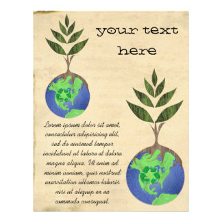 Reuse Reduce Recycle Tree Earth Globe 21.5 Cm X 28 Cm Flyer