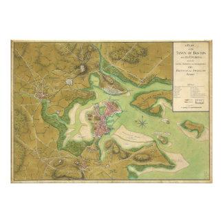 Revolutionary War Map of Boston Harbor 1776 Photograph