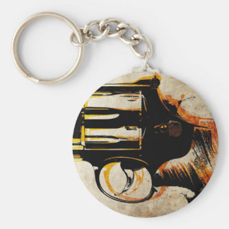 Revolver Trigger Basic Round Button Key Ring