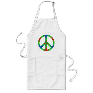 RGB Peace Sign Long Apron