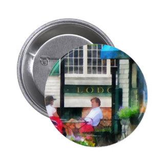 Rhode Island - Cafe Newport RI 6 Cm Round Badge