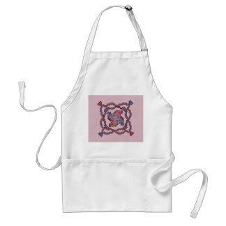 Ribbon Quilt Square Cross Stitch Apron