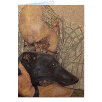 Richard and Ronnie Greyhound Greeting Card