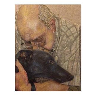 Richard and Ronnie Greyhound Postcard