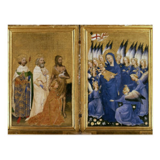 Richard II Presented to the Virgin and Child Postcard