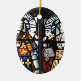 RICHARD III AND QUEEN ANNE OF ENGLAND CERAMIC OVAL DECORATION