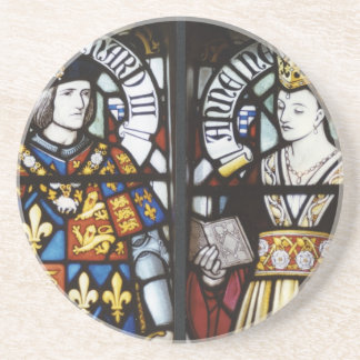 RICHARD III AND QUEEN ANNE OF ENGLAND SANDSTONE COASTER