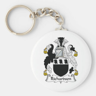 Richardson Family Crest Basic Round Button Key Ring
