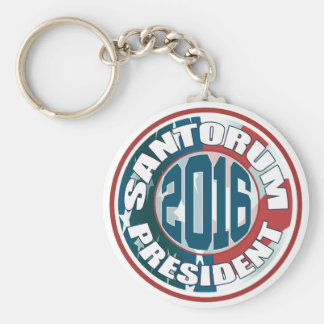 Rick Santorum President 2016 Basic Round Button Key Ring