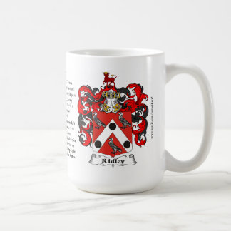 Ridley, the Origin, the Meaning and the Crest Basic White Mug