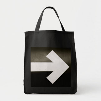 Right Arrow Grocery Tote Bag