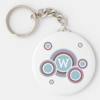 Riley Basic Round Button Key Ring