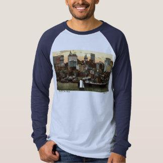 Riverfront New York City Vintage c1905 T Shirts