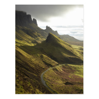 Road ascending The Quiraing, Isle of Skye, Postcard