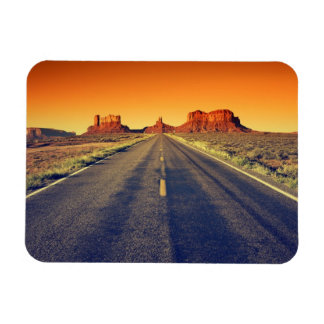 Road To Monument Valley At Sunset Rectangular Photo Magnet
