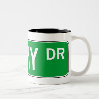 Roadsign Shimmy Two-Tone Mug