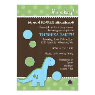 Roaring Dinosaur Baby Shower Invitations
