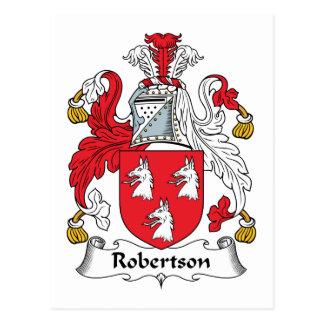 Robertson Family Crest Postcard