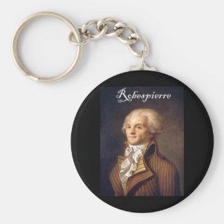 Robespierre 1 with blackadder basic round button key ring