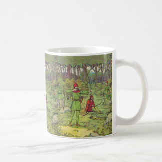 Robin Hood In The Forest Basic White Mug