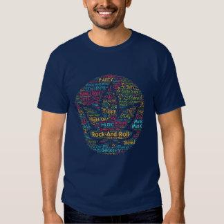 Rock and Roll Pot Leaf Word Art Shirt