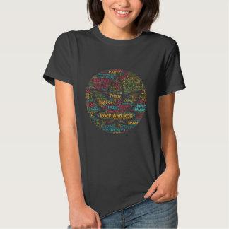 Rock and Roll Pot Leaf Word Art T-shirts