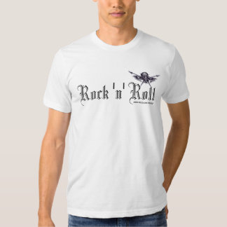 Rock music skull and guitars graphic art t-shirt