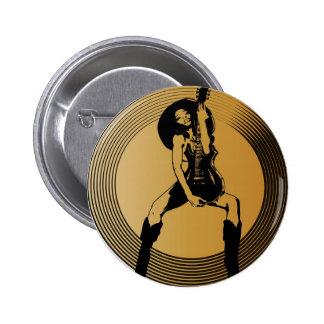 Rock on! 6 cm round badge