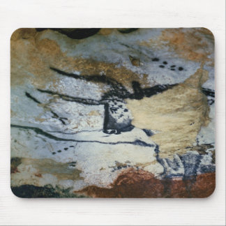 Rock painting of a bull with long horns mouse pad