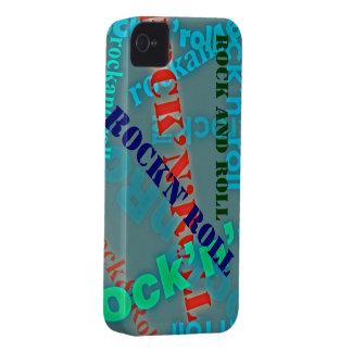 rock & roll typography Case-Mate iPhone 4 case
