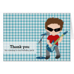 Rock Star Thank you Greeting Card