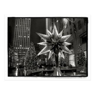 Rockefeller Plaza Crystal Star Postcard
