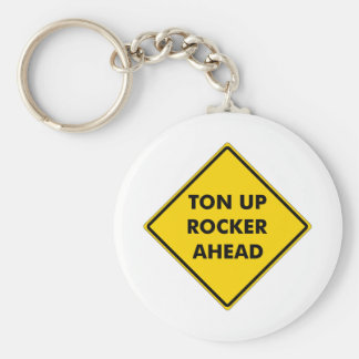 Rockers Caution Sign Basic Round Button Key Ring
