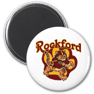 Rockford Tigers Youth Football 6 Cm Round Magnet
