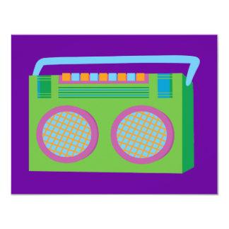 Rockin' Stereo 11 Cm X 14 Cm Invitation Card