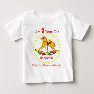 Rocking Horse 1st Birthday Party T-shirts