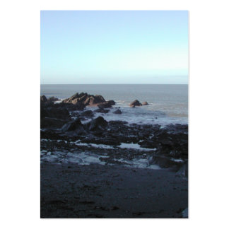 Rocky Beach. Scenic Coastal View. Pack Of Chubby Business Cards