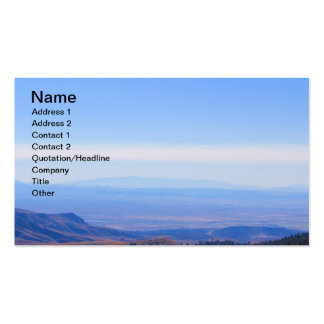 Rocky Mountain Range Picture Business Cards