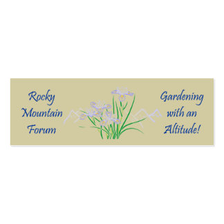 Rocky Mtn #5 Pack Of Skinny Business Cards