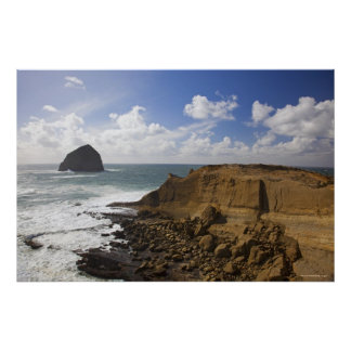 Rocky Oregon Pacific Coast in Pacific City Poster