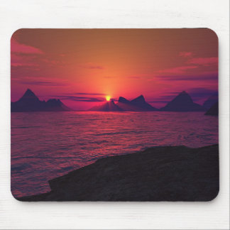 Rocky Shores At Sunset Mouse Pad