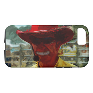 Rodeo Clown Abstract Impressionism iPhone 7 Case