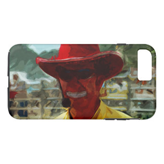 Rodeo Clown Abstract Impressionism iPhone 7 Plus Case