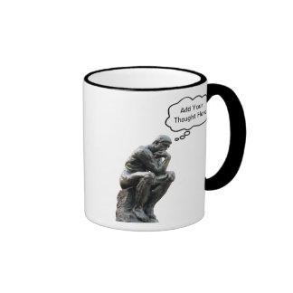 Rodin's Thinker - Add Your Custom Thought Ringer Mug