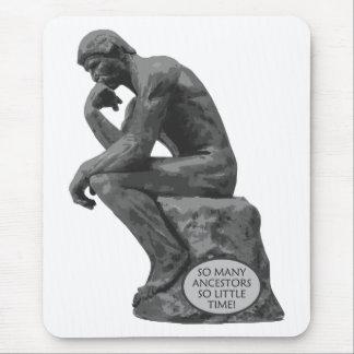 Rodin's Thinker - So Many Ancestors Mouse Pad