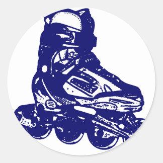 Rollerblades Round Sticker