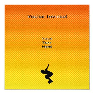 Rollerblading 13 Cm X 13 Cm Square Invitation Card