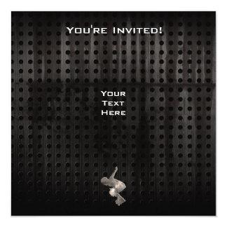 Rollerblading; Cool Black 13 Cm X 13 Cm Square Invitation Card