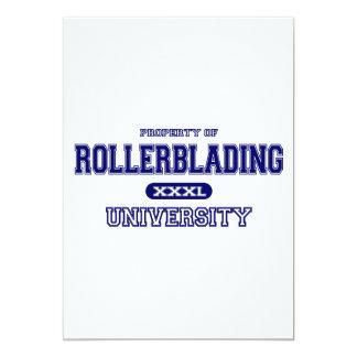Rollerblading University 13 Cm X 18 Cm Invitation Card