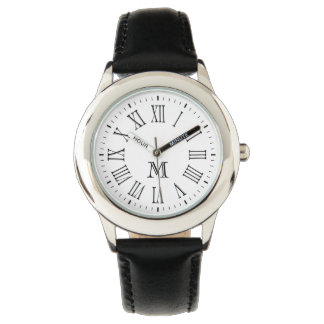 Roman Monogram Black Wristwatch